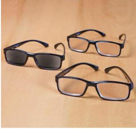 3 Eyeglasses With Sunreader Sunglass Eye Black