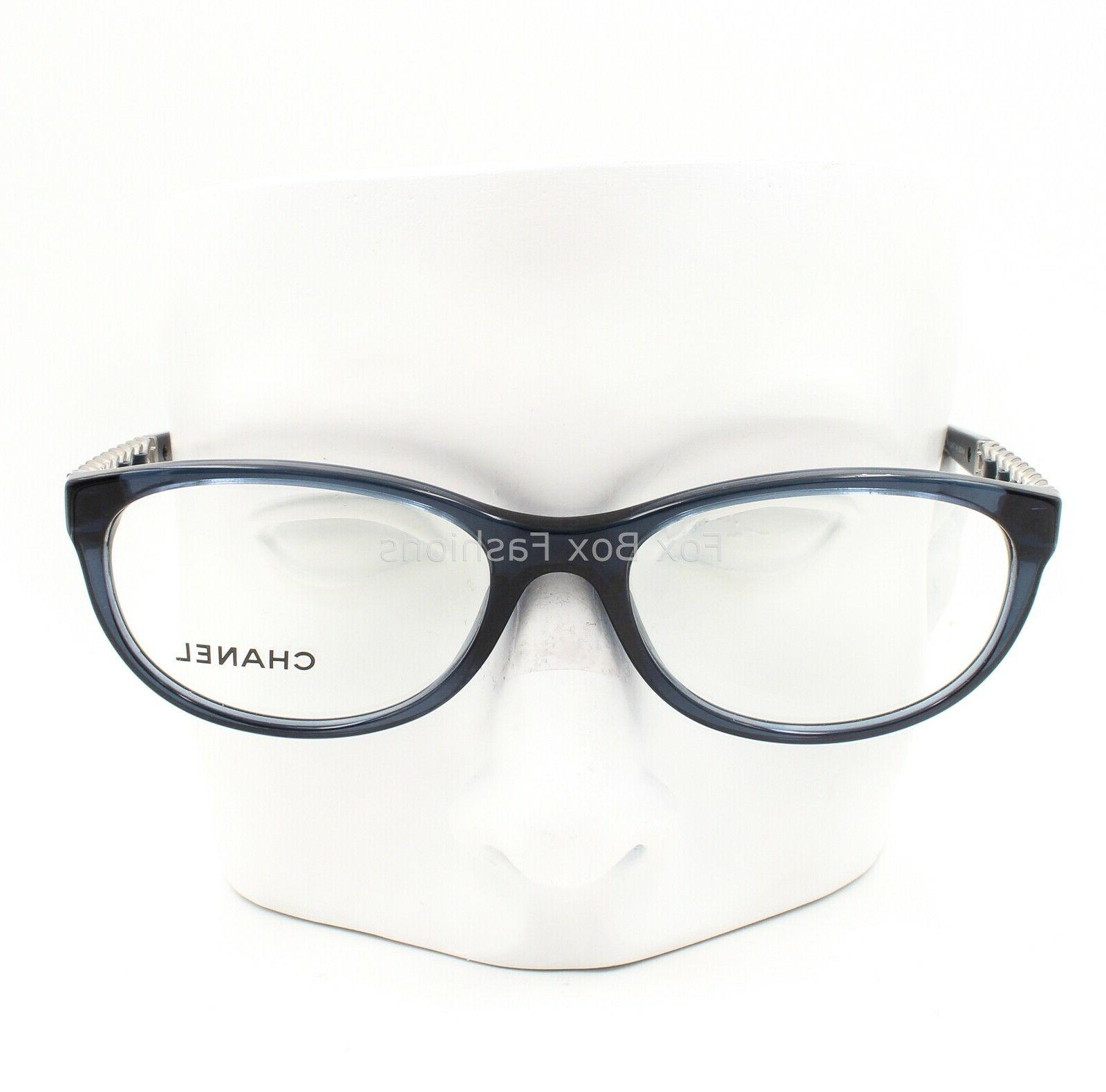 CHANEL 1390 Eyeglasses Frame Glasses Crystal Blue & Logo