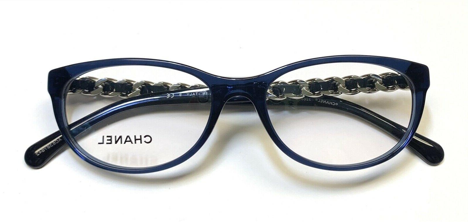 CHANEL Frame Glasses Blue & Logo