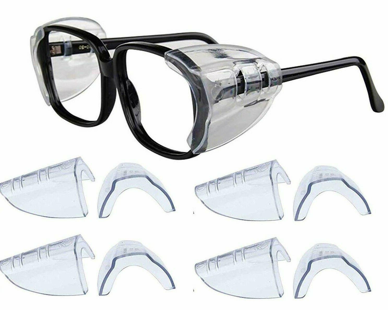 4 pair safety eye glasses side shields