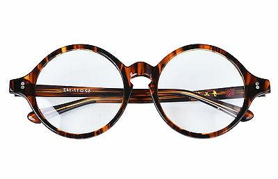 40mm 61mm handmade vintage round glasses tortoise
