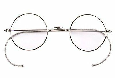Agstum Retro Small Round Optical Rare Wire Rim Eyeglasses Fr