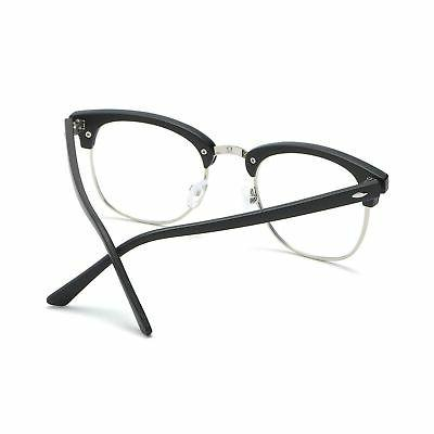 Amomoma Clubmaster Rimless Eyeglasses Mirrored AM5018