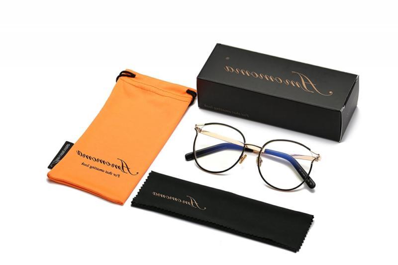 Amomoma Retro Round Eyeglasses Optical