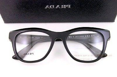 Brand New Prada Eyeglass Frames 04Q 04QV 1AB BLACK SZ 51 For