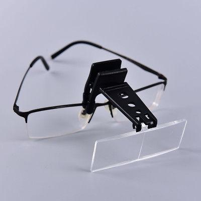 Clip-on Eye Glasses Binocular Magnifier Eyeglasses With 3 Le
