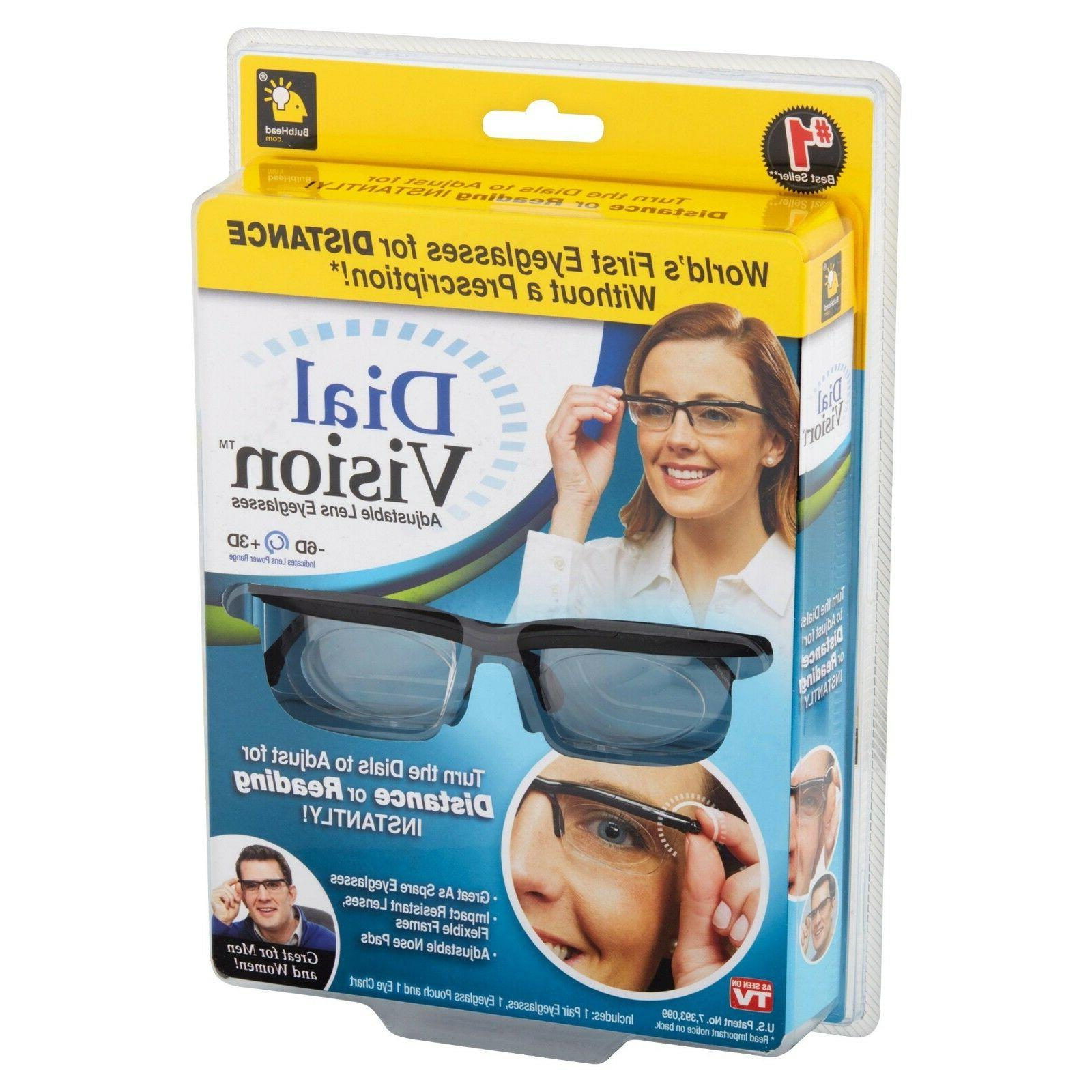 Dial Vision Adjustable Lens Eyeglasses From -6d to 3d Power