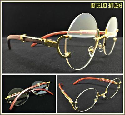 Men's Classy Elegant Retro Style Round Clear Lens EYE GLASSE