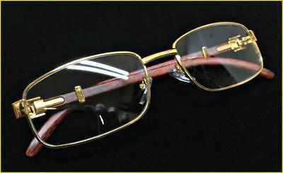 Mens Style Lens EYE GLASSES Gold Fashion Frame