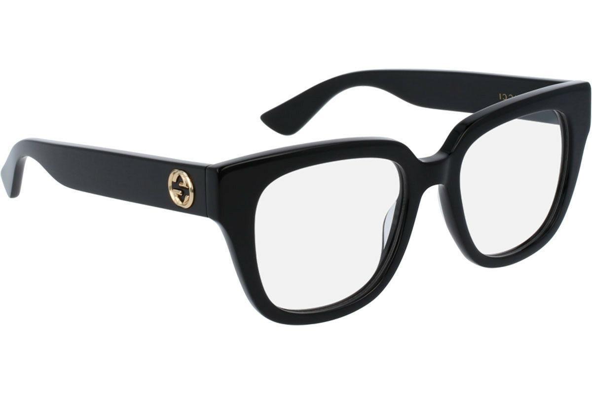 NEW Authentic GUCCI Womens CatEye Glossy Black Eye Glasses F