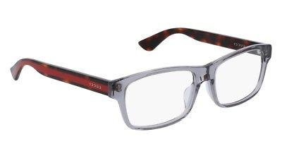 NEW Gucci Urban GG 0006OA Eyeglasses 004 Grey 100% AUTHENTIC