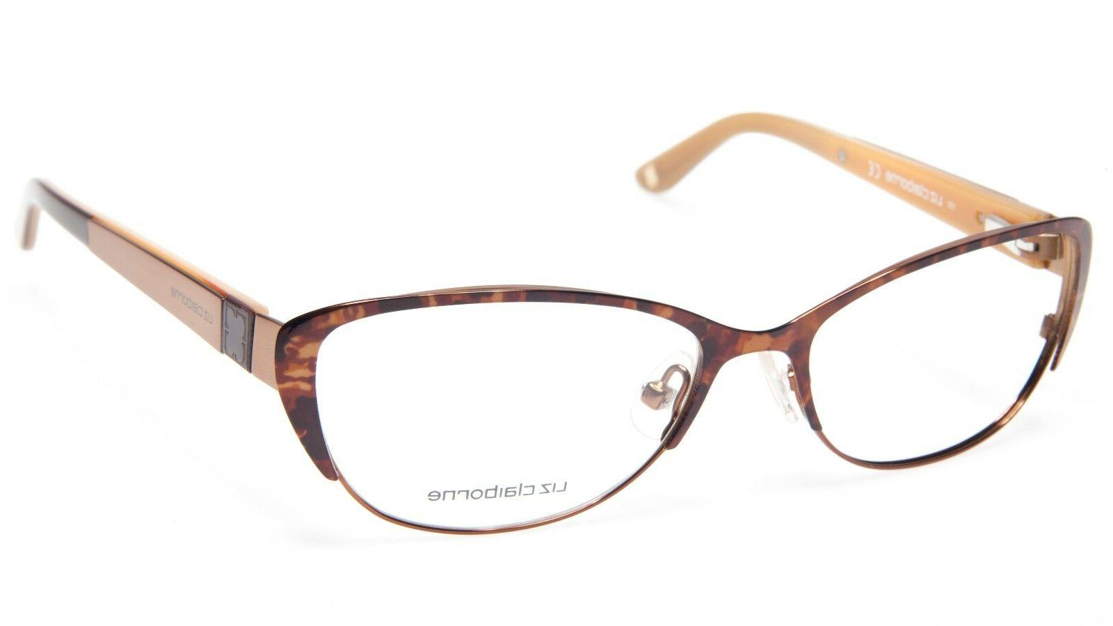 NEW LIZ Claiborne L398 0DC7 DEMI BROWN EYEGLASSES GLASSES 51