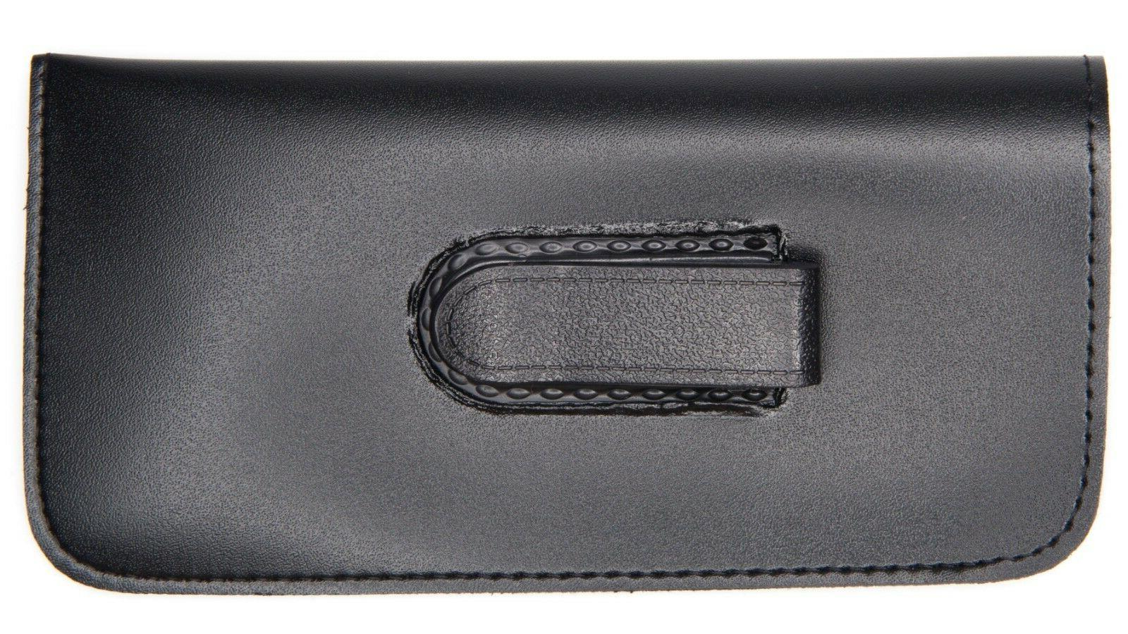 NEW Soft Thin Black Eyeglasses Reading Glasses Case Pouch wi