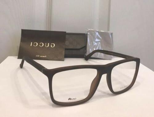 New GUCCI Men's Eyeglasses Frames GG1092 Havana W/Signature