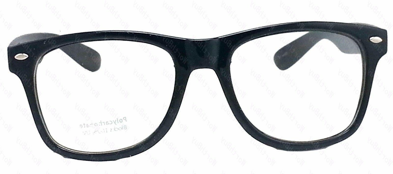 New Mens Lens Cat Black Frame Fashion Glasses