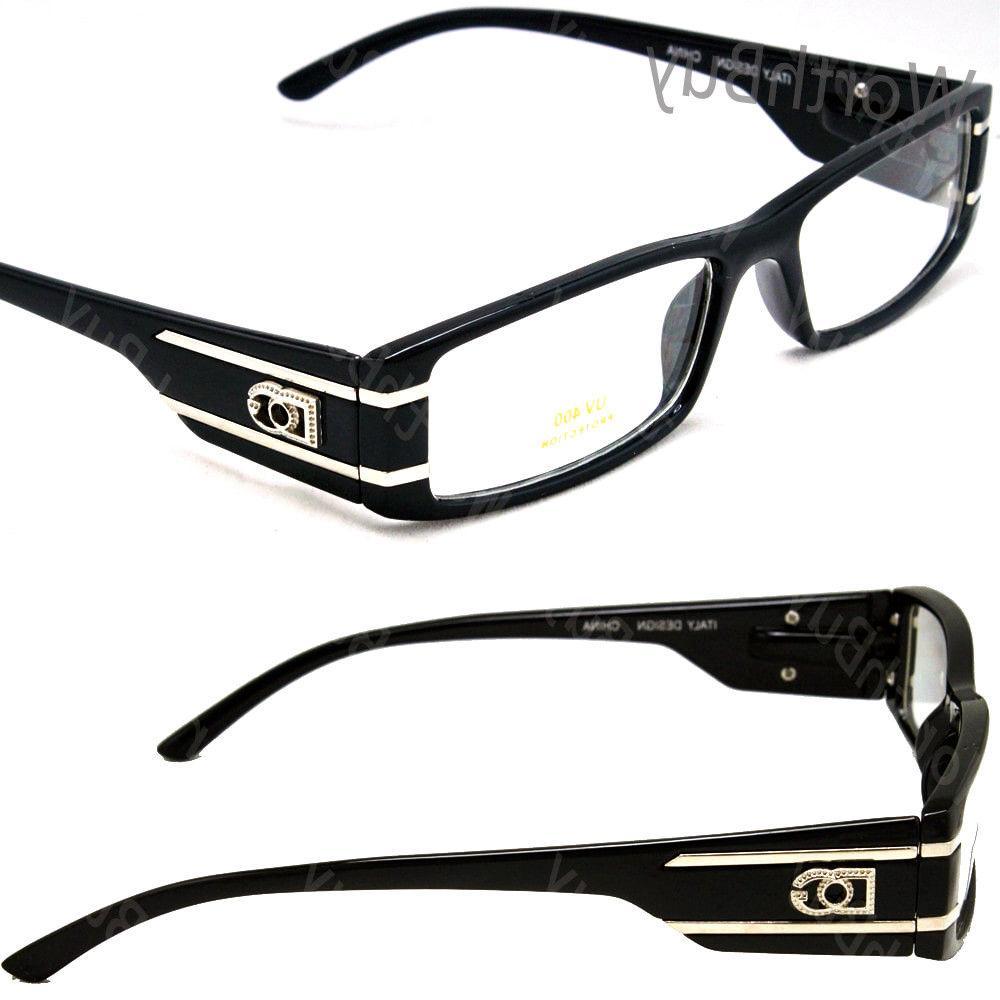 New Mens Womens DG Eyewear Clear Lens Frame Black Eye Glasse
