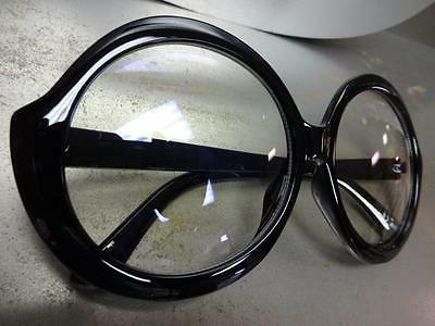 OVERSIZE VINTAGE Clear Lens EYE GLASSES Huge Large Frame