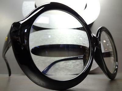 OVERSIZE RETRO Clear GLASSES Huge Black Frame