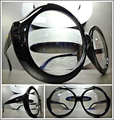 OVERSIZE VINTAGE RETRO Style Clear Lens EYE GLASSES Huge Lar