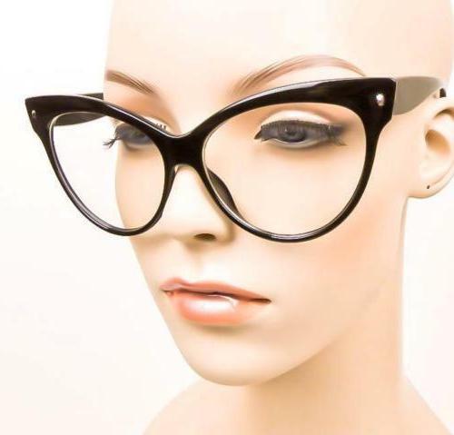 Oversized Cat Girl Eyeglasses Rockabilly