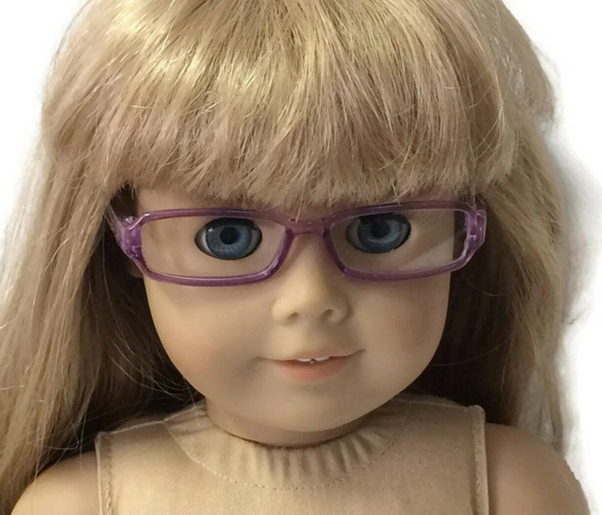 Purple Eye Glasses made Girl Doll Clothes