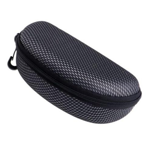 Safety Zippered Glasses Sunglasses Clam Shell Hard Case Protector