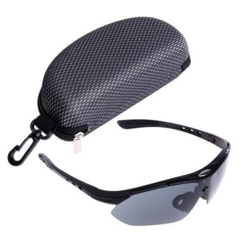 Safety Zippered Eye Glasses Sunglasses Clam Shell Hard Case
