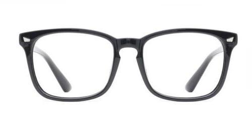 0667a48fee TIJN Unisex Stylish Square Non-prescription Eyeglasses Glass