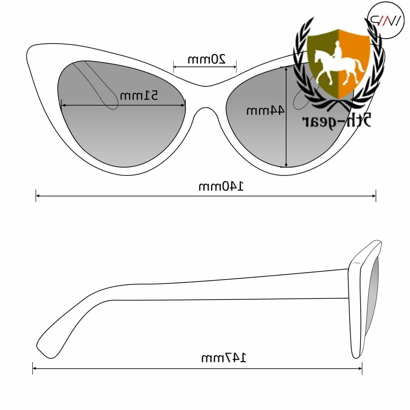 WearMe Pro Elegant Oversized Frame Cat Non-Prescription Glasses