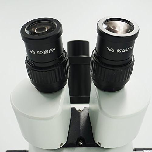 OPTO-EDU Professional Trinocular Stereo Zoom Metal, Glass,