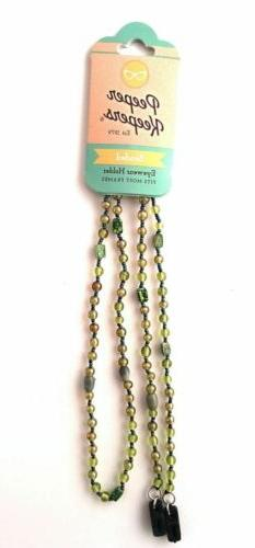Peeper Keeper Authentic Glass Bead Eyeglass Necklace 4 New C
