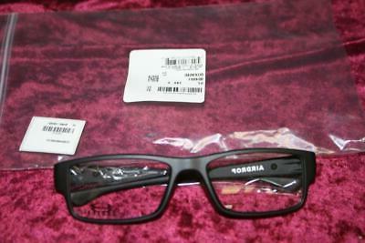 authentic ox8046 0157 airdrop satin black eyeglasses
