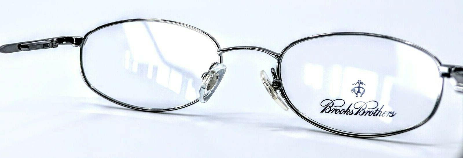 BROOKS Gunmetal Oval Eyeglass 49-19-135