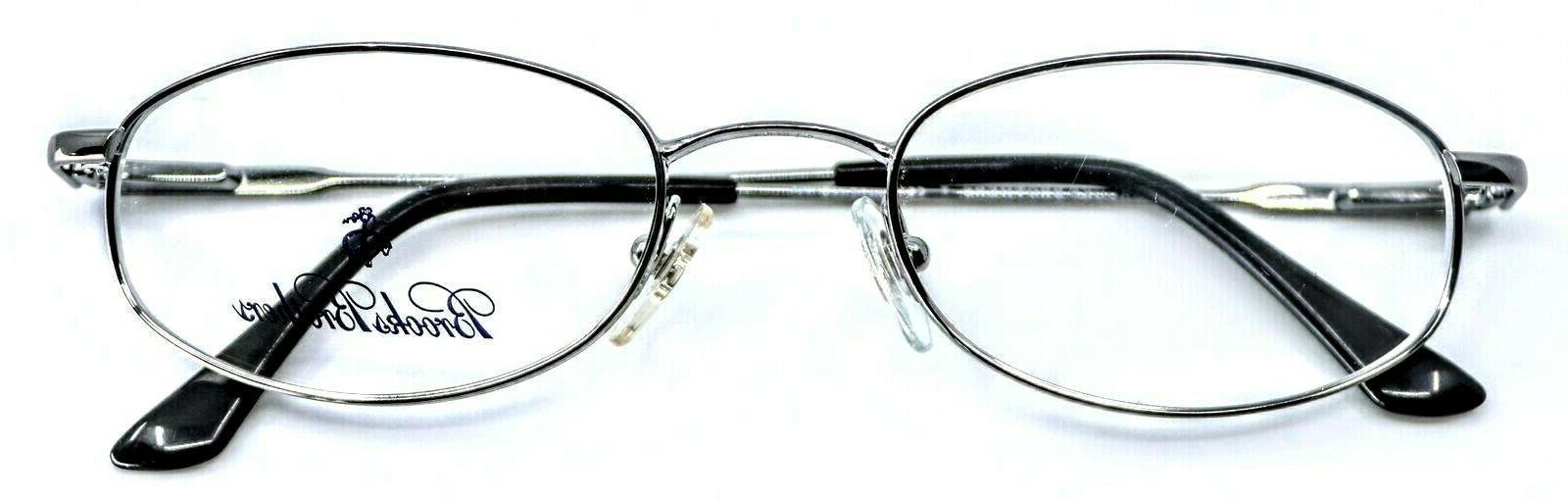 BROOKS BROTHERS Gunmetal Eyeglass Frames 49-19-135
