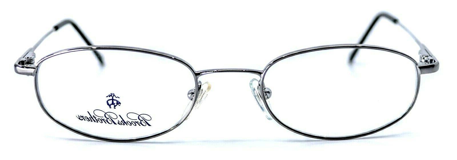 BROOKS BB491 1150 Gunmetal Oval Eyeglass 49-19-135
