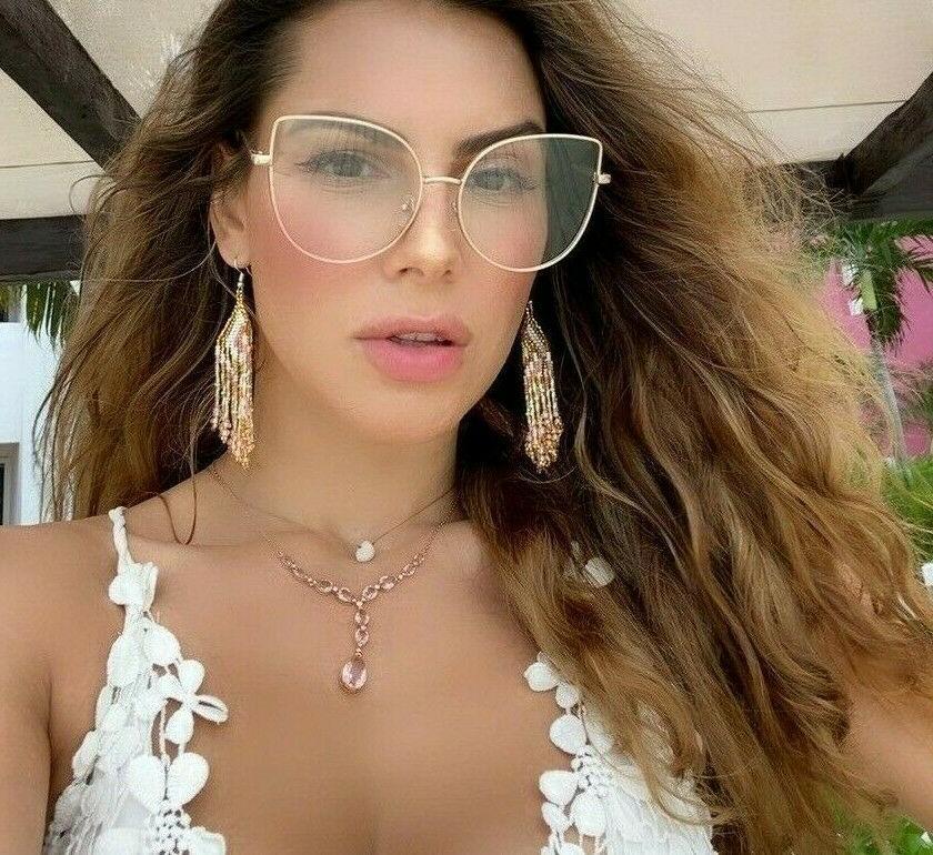 BELINDA Eyeglasses CAT EYE Clear Lens Glasses GAFAS