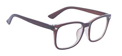 big frame clear glasses for women men