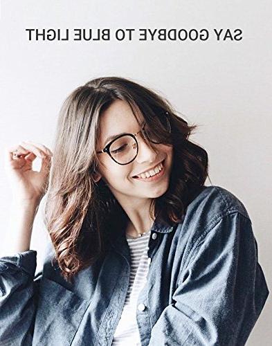 TIJN Block Glasses Round Non-prescription Eyeglasses Frame