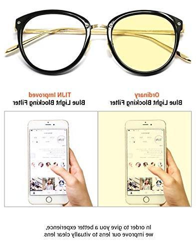 TIJN Blue Light Glasses Round Eyewear Eyeglasses Frame