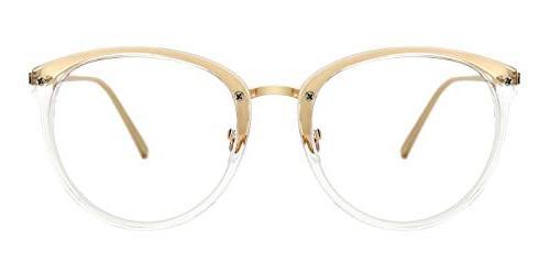 blue light block glasses round optical eyewear