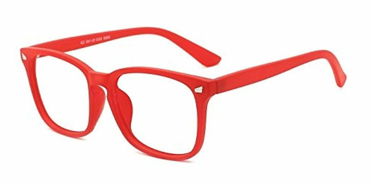 TIJN Light Glasses Nerd Eyeglasses Blue Ray Video Game Help