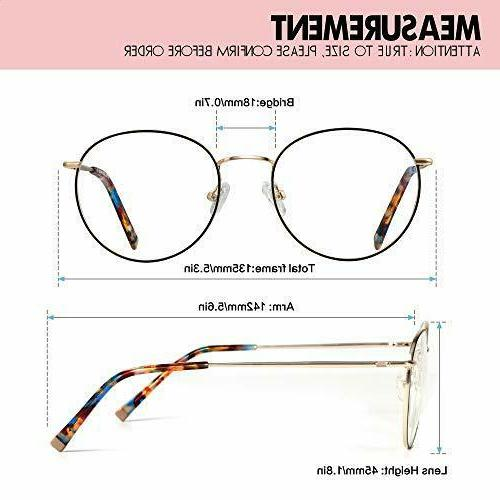 Blue Glasses ,Round Computer