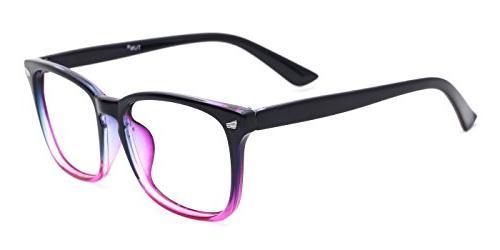 TIJN Blue Glasses Square Frame Computer Game