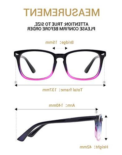 TIJN Light Blocking Glasses Eyeglasses Frame Blue Ray Computer
