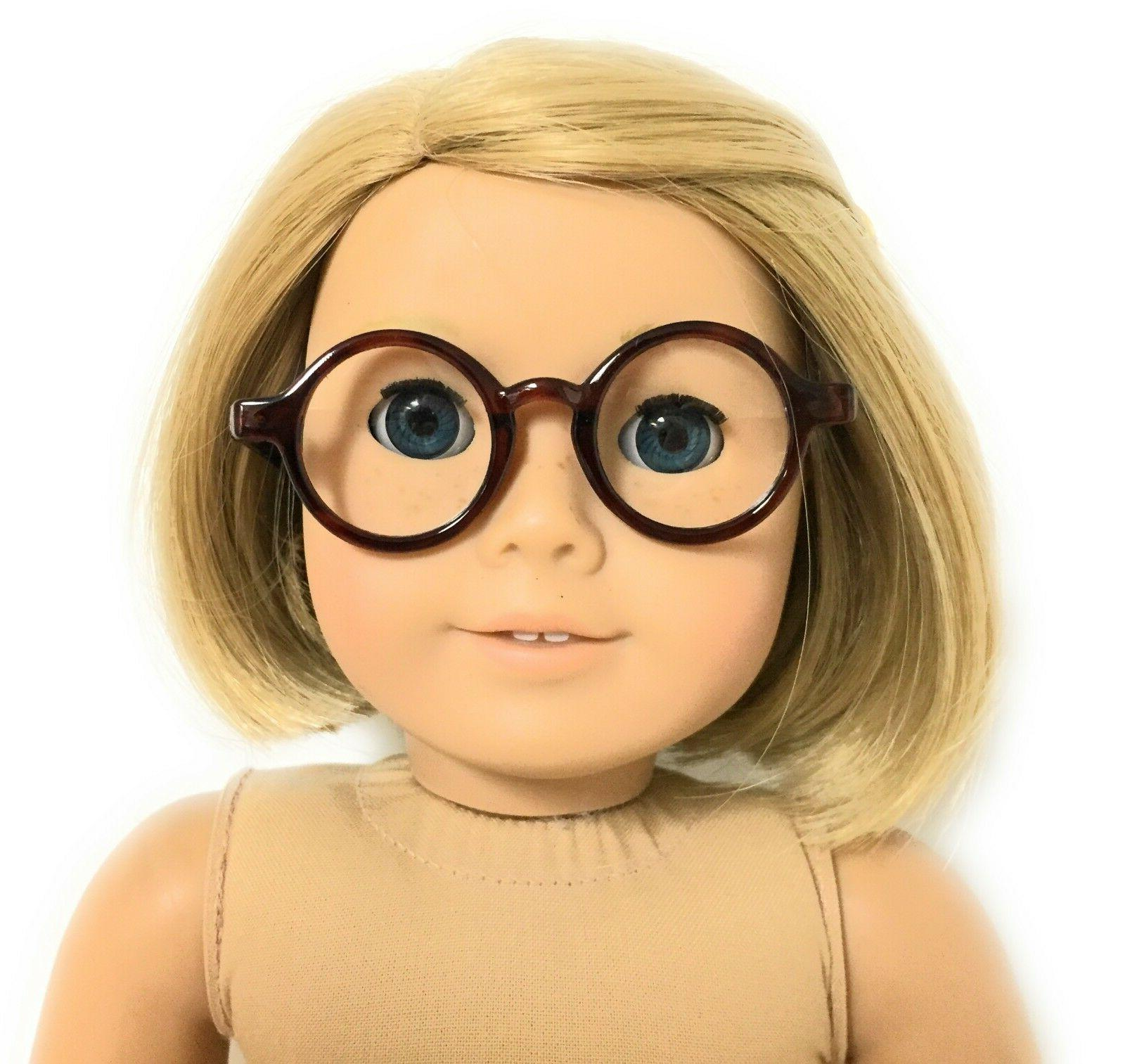 "Brown Tortoise Glasses made 18"" American Girl Clothes"