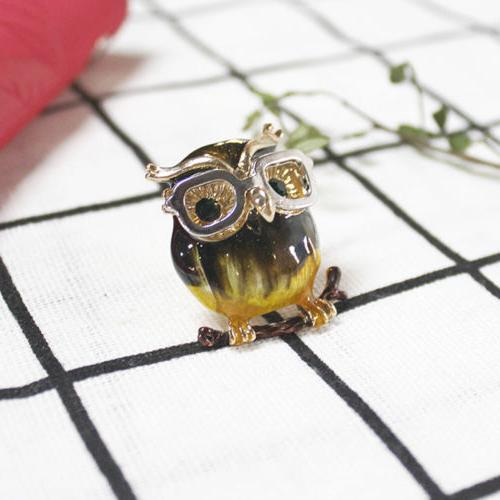 Women's Owl Brooches Alloy Eye Glasses Metal Animals Clothes