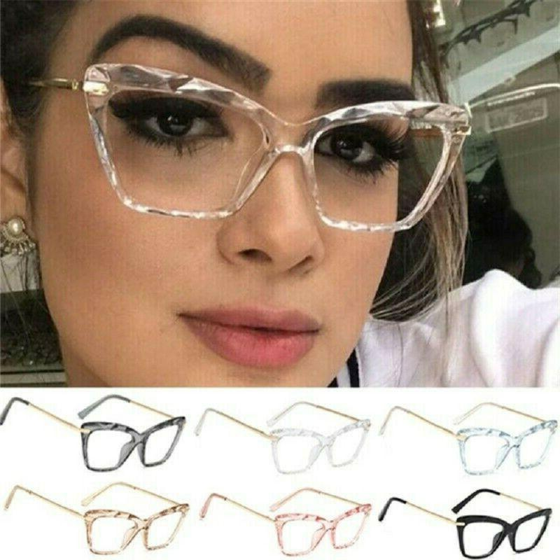 Women Lady Oversized Cat Eye Eyeglass Optical Glasses Specta