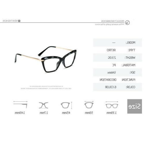 Cat Eye Clear Frames Women Optical Eyewear