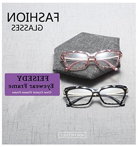 Frame Crystal Prescription Eyewear Women B2440