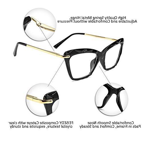 FEISEDY Cat Frame Crystal Prescription Eyewear B2440